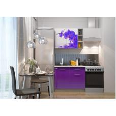 Кухня Oli с фотопечатью Орхидея- сирень 1.6м