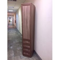Шкаф-пенал с ящиками (ясень шимо темный)
