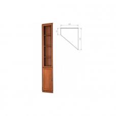 Шкаф книжный угловой узкий Гарун - А209