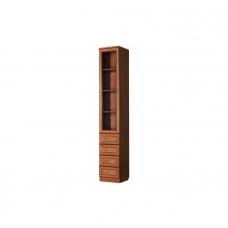 Шкаф книжный узкий 4 ящика Гарун - А205