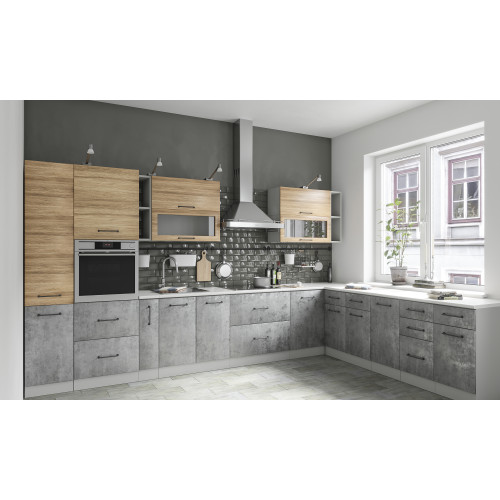 Кухня бетон лофт производство бетона отходы